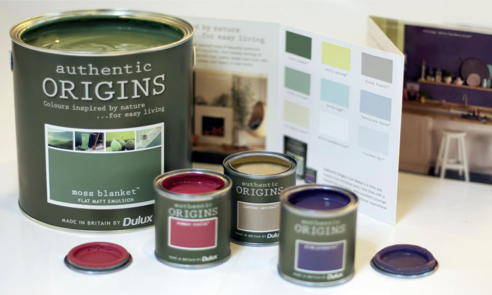 Dulux Authentic Origins branding
