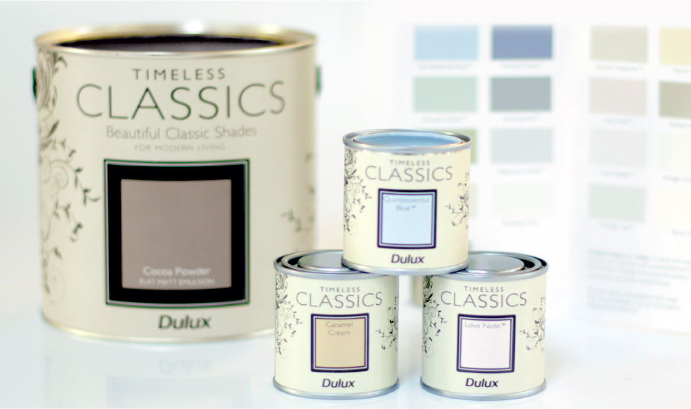 Dulux Timeless Classics packaging
