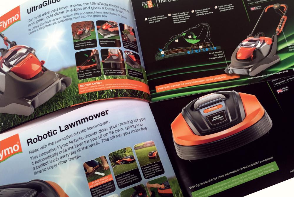 Flymo brochure detail