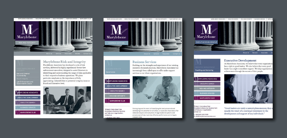 Marylebone Associates web pages