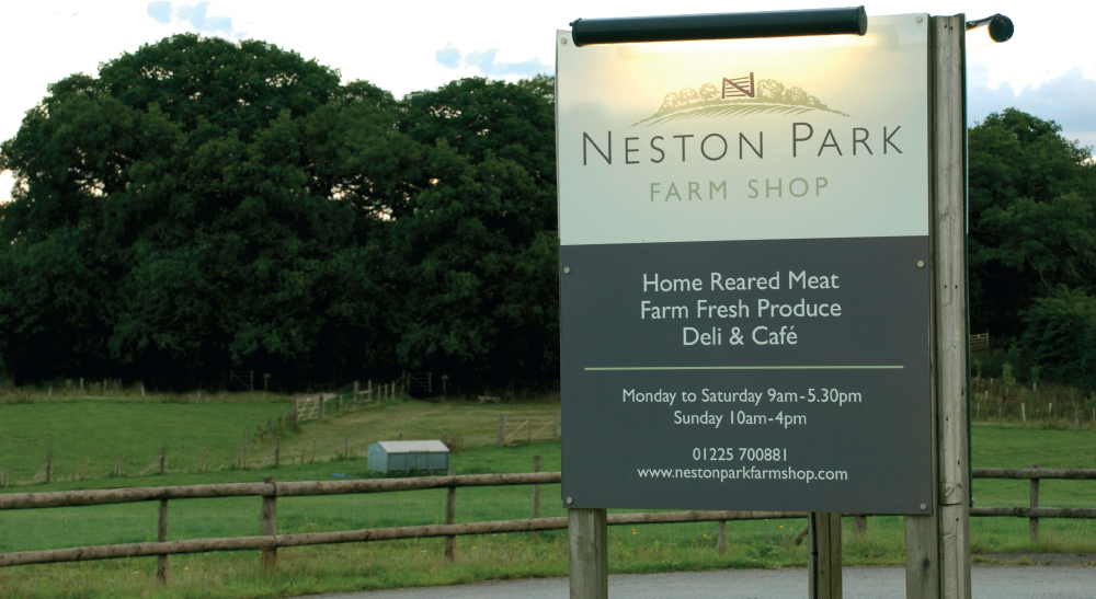 Neston Park Farm Shop Entrance