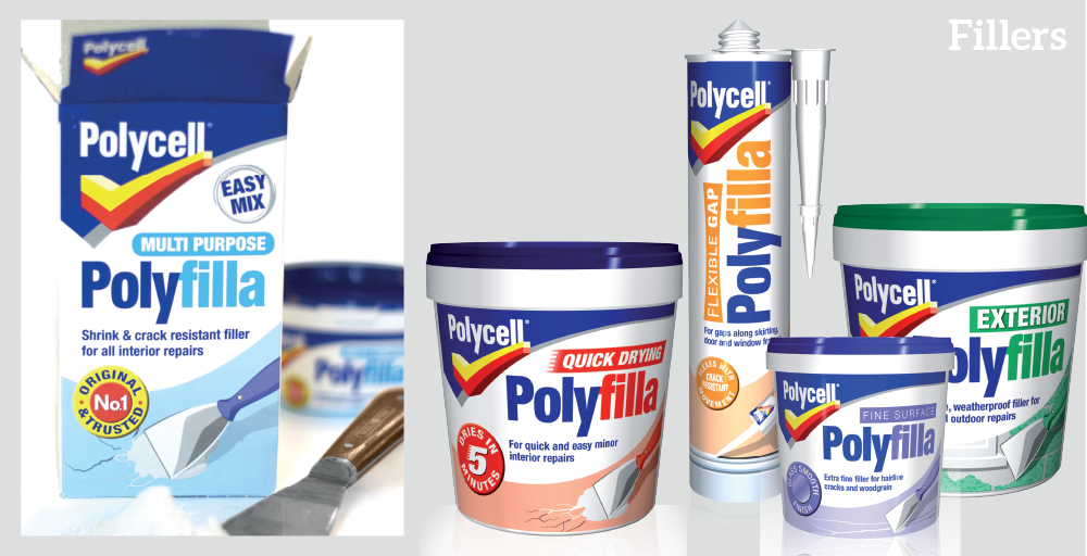 Polycell products assorted