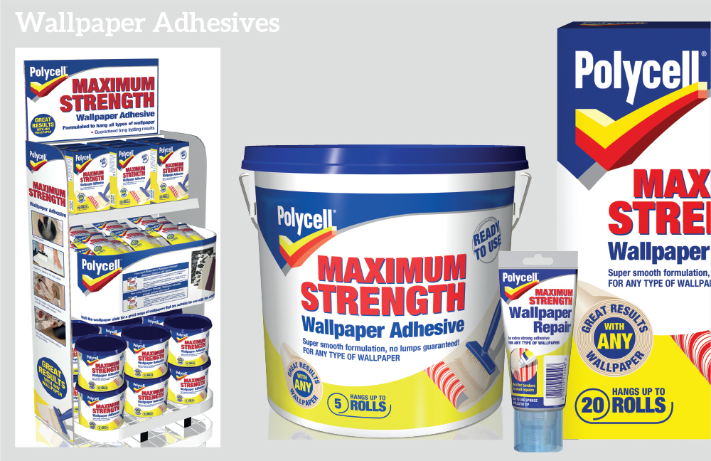 Polycell wallpaper adhesives