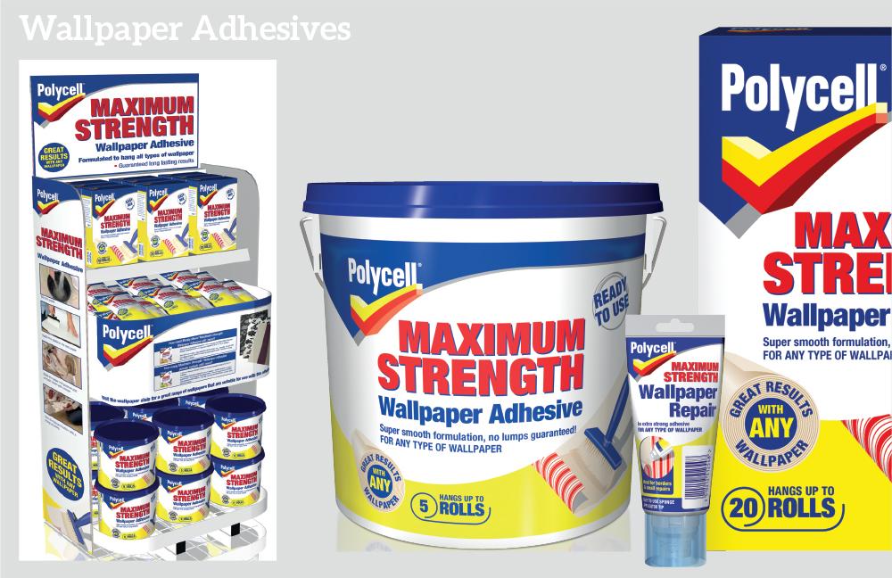 Polycell wallpaper adhesives