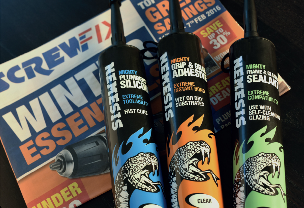 Screwfix Nemesis packaging
