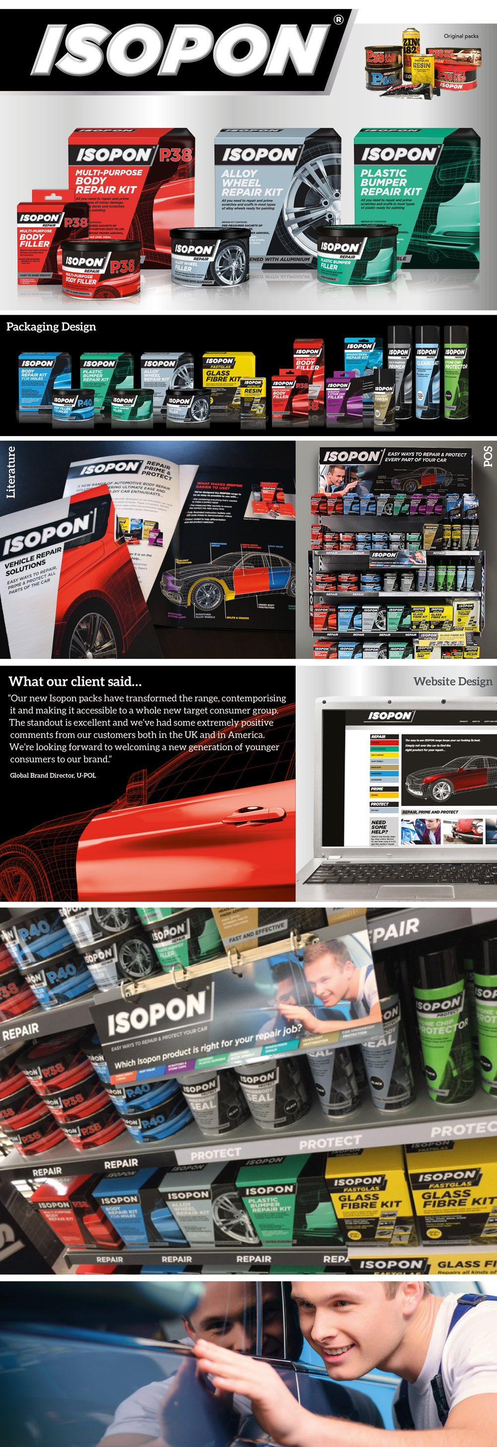 Isopon Auto Repair Products - Design Group International